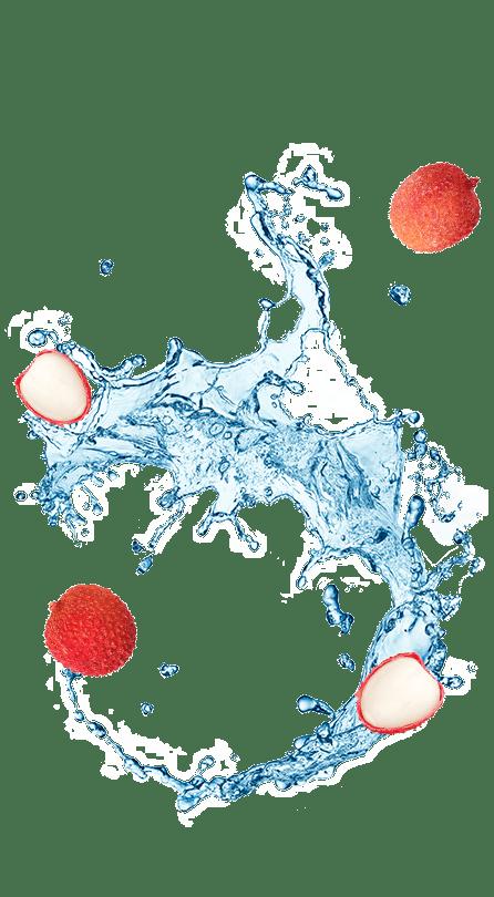 נביעות+ רכיבי פרי בטעם ליצ'י