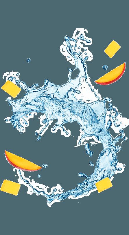 נביעות+ רכיבי פרי בטעם מנגו