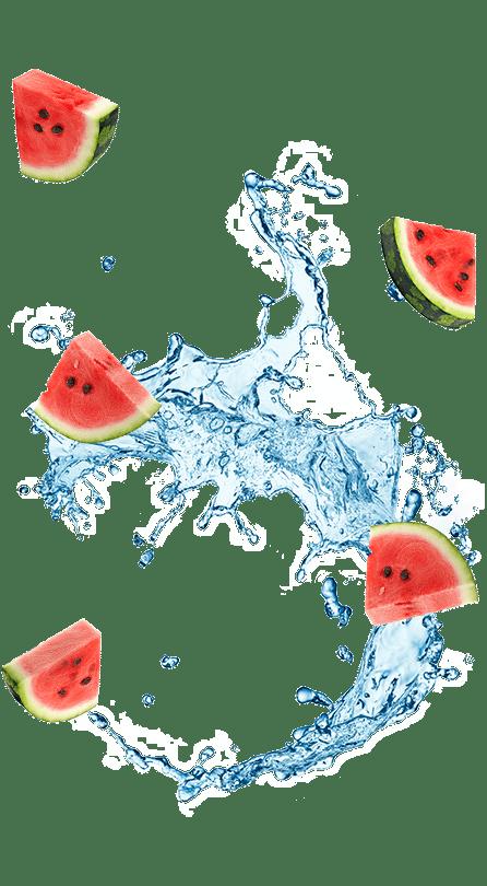 אבטיחים ושפריץ של מים